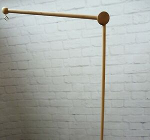 Cot mobile arm Wooden attachment arm mobile hanger decor mobile crib base DIY