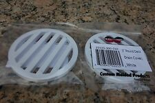 "[881] 3"" Inch Set Of 2 Plastic Round Deck Drain Cover White 25533-300-010"