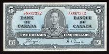 1937 Bank of Canada $5 - S/N: Y/C8867332 - Nice Condition