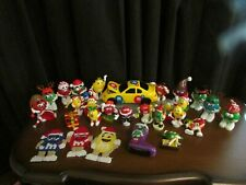 Vintage M&M's Christmas Holiday Toppers Ornaments & Dispensers Lot of 27