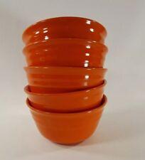 Rachael Ray Double Ridge Orange five Cereal Bowls L 008