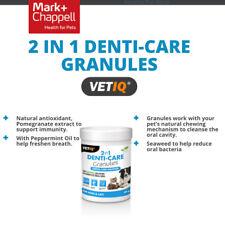 60g Dog Cat VetIQ 2 in 1 Denti-Care granules reduce oral bacteria freshen breath