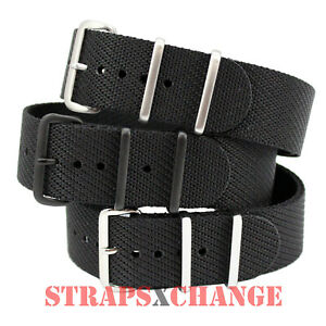 ULTRA Premium NATO® Full Black Jacquard weave Military Divers watch strap band