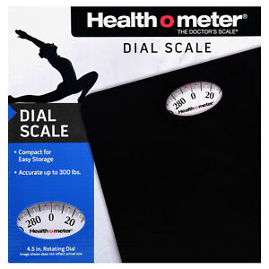 Health O Meter HAB700DQ105 Dial Personal Weight Scale, Black