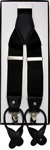 Y-Style Button and Clip Convertible Suspenders