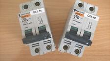 Lot 2x Disjoncteur C60L K10A bipolaire pour moteurs Merlin Gerin Ref. 25485