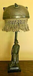 Austrian Werkstatte Bronzed Lamp Jewel Shade