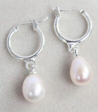 Lovely Water Drop Shape 8-10mm freshwater culture White Pearl Earring