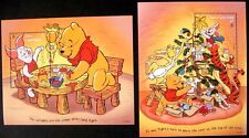 1996 MNH TURKS & CAICOS WINNIE THE POOH STAMPS SOUVENIR SHEETS DISNEY CHRISTMAS