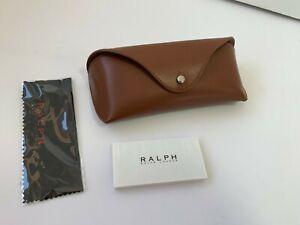 Case Ralph Lauren Sunglasses Brown Eyeglasses Glasses Clamshell Leather