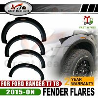 New Design MattBlack Slim Fender Flares Wheel Arch For Ford Ranger T7 T8 2015-ON