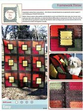 Framework Throw - Hooked for Life Crochet Pattern #09-007 Mary Beth Temple -Easy
