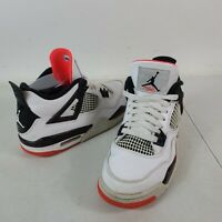 NIKE AIR JORDAN 4 RETRO GS 408452-116 6.5Y WHITE/BLACK-BRIGHT CRIMSON