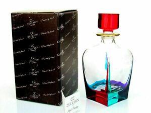 Murano Glass Signed/Box/Certificate Mazzega Art Glass Deco Design Bottle/Stopper