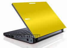 YELLOW Vinyl Lid Skin Cover Decal fits Dell Latitude 2100 Laptop