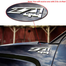 Red Chrome Z71 4x4 Emblem Decal Sticker Badge For Chevrolet Silverado GMC Truck