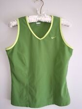 NIKE DRI FIT SPORTS TOP SIZE LARGE GREEN TANK YOGA TENNIS RUNNING FITNESS DRY