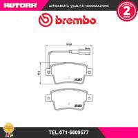 P23142-G Kit pastiglie freno a disco post Fiat Punto (BREMBO).