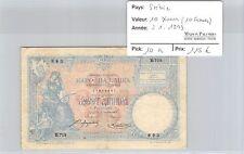 BILLET SERBIE - 10 DINARA (10 FRANCS) - 2.1.1893