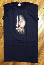 Vintage 1980s Conan The Destroyer Sleeveless T Shirt Promo Navy Size S Rare