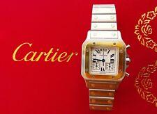 Cartier Santos Chronoflex Stahl/Gold 18K 750 Eleganter Luxus Herren Chronograph