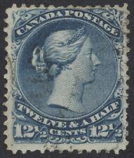 Canada #28 12 1/2c Large Queen, Fine Used, Light Cancel