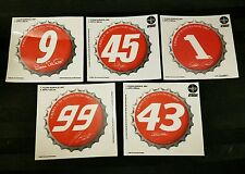 2001 Coca-Cola Company Official Nascar Racing Decals lot of 5