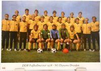 SG Dynamo Dresden + DDR Fußball Meister 1978 + Fan Big Card Edition E3 +
