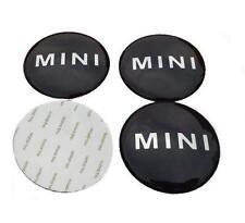4 X Mini Rueda Centro Tapas insignia emblema de la etiqueta engomada 50MM Aluminio logotipo Cooper