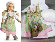 "American Girl 18"" Doll Clothes CAROLINE WORK DRESS Outfit Boots Dress Cap & BOX!"