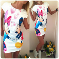 Loose Casual Women Dress Style Cartoon Minnie Mouse Print Ladies Clothing New