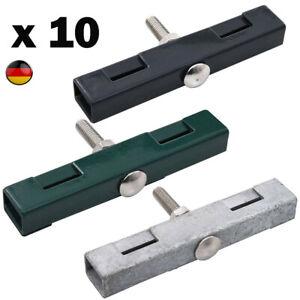 10er U-Mattenverbinder Gittermatten Verbinder für Doppelstabmattenzaun Gitter~