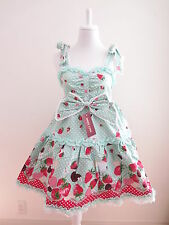 NEW Bodyline Lolita Strawberry and chocolate pattern Dress Size M (bo9)