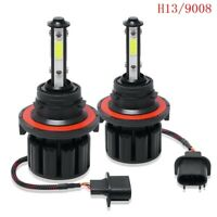 1Pair H13 9008 4side LED Headlight  High Low Beam Kit 100W 20000LM 6000K White