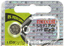 Maxell 399 SR927W SR927 V399 D399 W Watch Battery 0% MERCURY (1PC)
