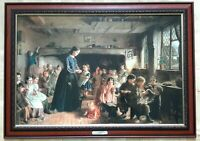 Straw Plaiting School in Essex - George W. Brownlow Print Framed