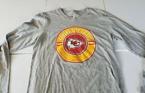 Kansas City Chiefs NFL Gray Womens Long Sleeve Shirt Sz Small