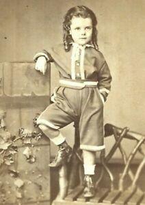 CDV Photo Child Named William Dyer Boy Long Hair B.C Boake Sydney Australia