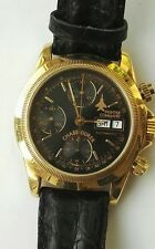 Chase Durer CD-077 18k Gold Limited Edition Automatic Chronograph  - Black Dial