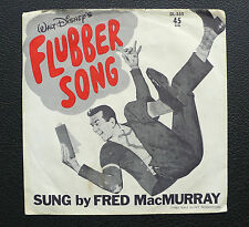 """7"""" Fred Mac Murray - Flubber Song - USA Picture Sleeve only! Disney"""