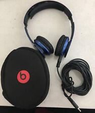 Beats by Dr. Dre-solo HD-azul-perchas auriculares con bolsa y cables (ajeno)