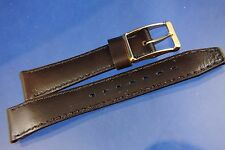 Vintage 1970s HiFi 16mm French Rubber Watch Strap Band New Old Stock Choc Brown