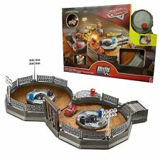 Disney Cars Toy Mini Racers Crank & Crash Derby Track with Lightning McQueen NEW