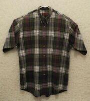Men's Roper Western Short Sleeve Shirt Multicolor Plaid Size XL
