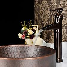 "14"" Bathroom Sink Faucet Oil Rubbed Bronze Lavatory One Hole/Handle Mixer Taps"