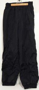 Vintage Columbia Black Windbreaker Pants Adjustable Waist and Cuffs Men's L EUC