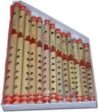 Traditional Handmade Wooden Bansuri Bamboo 13 Flutes Set Musical Instrument