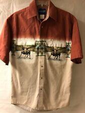 Wrangler Vintage 90's Short Sleeve Western/Cowboy Snap Shirt Mens Aztec  -Bulls