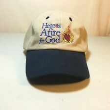 Religious Christian Hat Hearts Afire for God Cap. Adjustable: One-Size-Fits-All