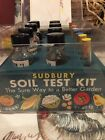 Antique Sudbury Soil Testing Kit Clear Acrylic Box With Instructions